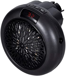 QAZWSX Calefactor Baño,Mini Calefactor Cerámico Protección Sobrecalentamiento Visualización De Temperatura Ahorro De Energía Apto para Cuarto Oficina Hogar