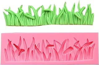 Efivs Arts Grass Shape Silicone Mold Fondant Mold Cupcake Cake Side Decoration Tool