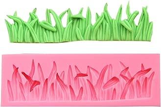 Efivs Arts Grass Shape Fence Silicone Mold Fondant Mold Cupcake Cake Side Decoration Tool