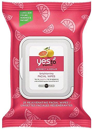 Yes To Grapefruit Oui à pamplemousse rajeunissant lingettes pour le visage, corriger et réparation 25 ch (pack de 3)