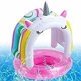 Baby Schwimmring,Baby Schwimmhilfe,Schwimmring mit Sonnenschutz,Baby schwimmring aufblasbarer,Aufblasbarer schwimmreifen Kleinkind,Float Kinder Schwimmring,Kinder Schwimmreifen Spielzeug,Baby Pool