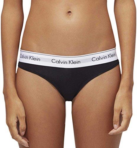 Calvin Klein String – Modern Cotton Bragas, Negro (Black 001), XS para Mujer