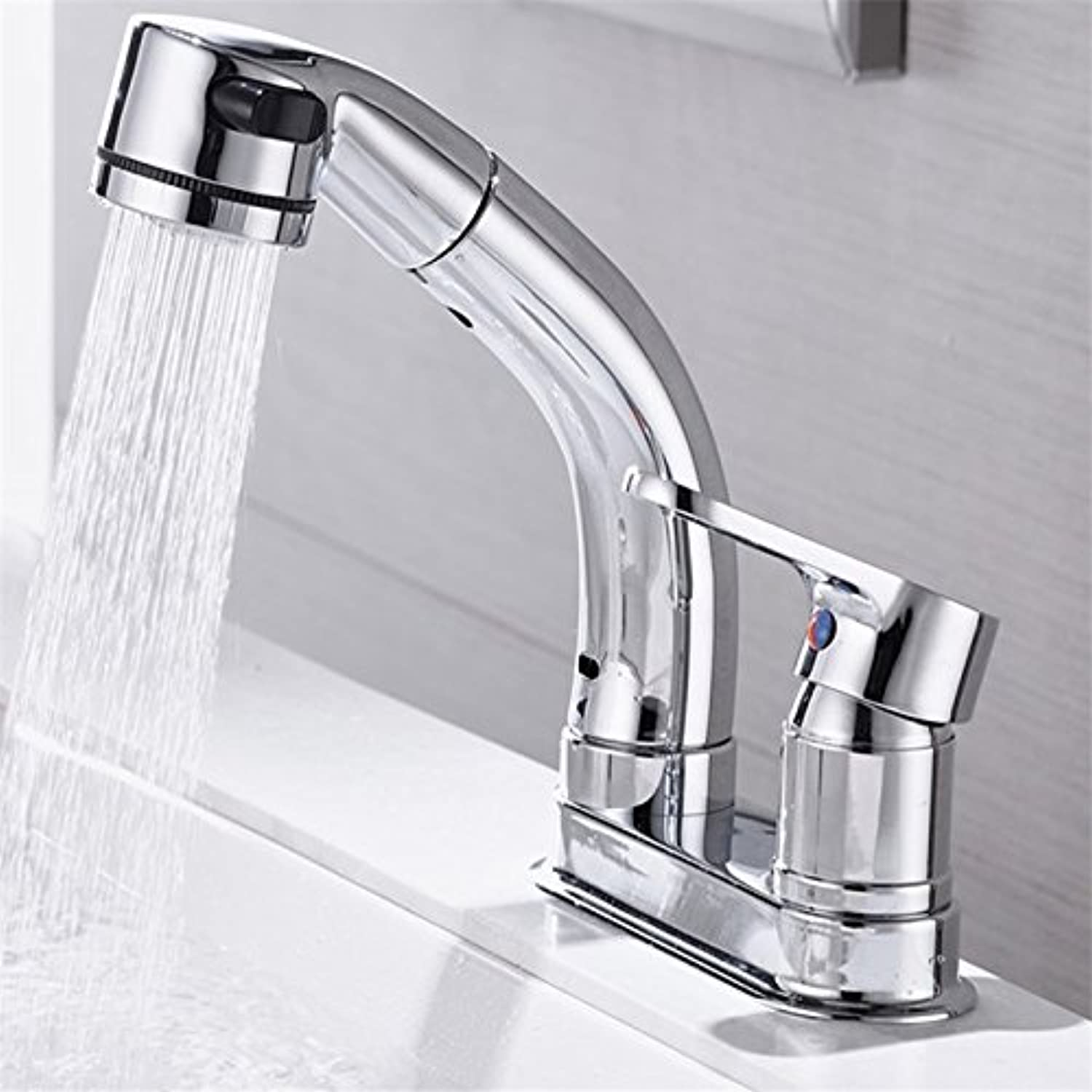 Commercial Bathroom Sink Taps Janitorial & Sanitation Supplies Gyps Faucet Single Lever Washbasin Mixer Tap Copper Wash Basin Faucet Colour Warm and Cold Water Bathroom Tap White