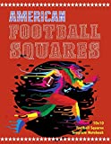 American Football Squares: 10x10 Football Squares With 4 Sets Of Numbers Template Notebook - 50 Squares Sheets Combined With Graph Paper - Large Size 8.5' x 11'
