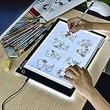 Mesa de Luz de Dibujo LED A4,Tableta de Luz LED A4,Tablero de Pintura de Diamante Ultrafino,Cable USB con Brillo Ajustable para Artistas,Animación,Dibujo,Diseño,Bosquejo,Bordado
