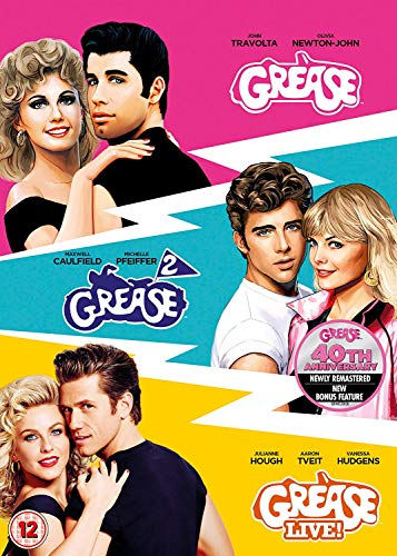 Grease 40th Anniversary Triple (Grease/Grease 2/Grease Live) [DVD] [2018]