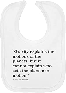 Religion Quote by Isaac Newton Soft Cotton Baby Bib (BI00013021)