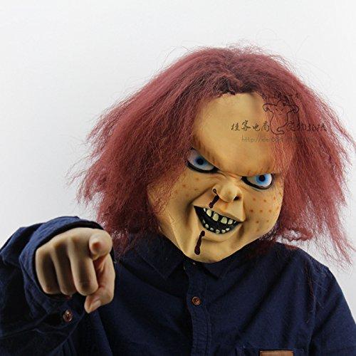 8888Mall® von Chucky Rückseite Film Requisiten nur Chihuahua Latex Masken Halloween Horror Ghost Kopf machen Bar Dance