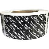 Sellos negros limpiados y desinfectados, 2 x 10 cm, 500 etiquetas totales