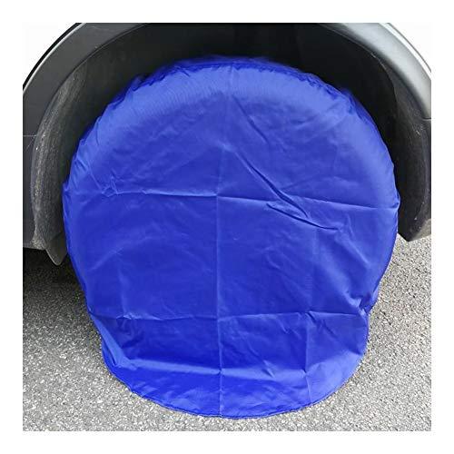 WKZWY Autoreifen-Abdeckung Sonnenschutz Anti-Aging-wasserdichte Abdeckung Rattan Patio Anti-UV-Außenstaubdicht, 1 Paket 4 Means, 2 Farben (Color : Blue, Size : 83cm)