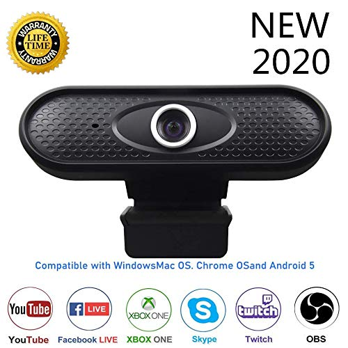 Webcam 1080P computer camera, high-definition webcam with built-in HD microphone 1080P USB PC webcam, widescreen video, streaming computer webcam with wide viewing angle, for video call recording conference laptop