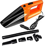 Best Car Vacuum Cleaners - Sasimo Powerful Portable & High Power 12V Orange Review