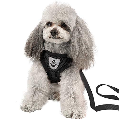 ANTOPM Hundegeschirr Anti Zug Geschirr No Pull Sicherheitsgeschirr Dog Harness Kleine Mittlere Hunde Brustgeschirr Dog Harness Weich Gepolstert Atmungsaktiv (L)