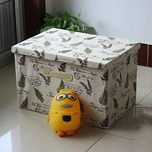 MIDUO Folding Storage Box Finishing Box Glove Box Storage Box Straw Wardrobe Bed Linens Have,No. 15 Color,Oversized 50 * 47 * 30Cm
