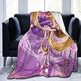 Nedrodapphire R-APU-Nz-El Ultra-Soft Micro Fleece Blanket Throw Blanket Fit Couch Bed Sofa All Season Light Weight Living Room/Bedroom Warm Throw Blanket,Black,50' X40