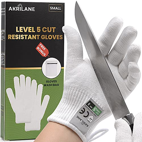 Cut Resistant Gloves | High Performance Level 5 Protection | Premium Food Grade Cutting Glove | 1 Pair (Small)