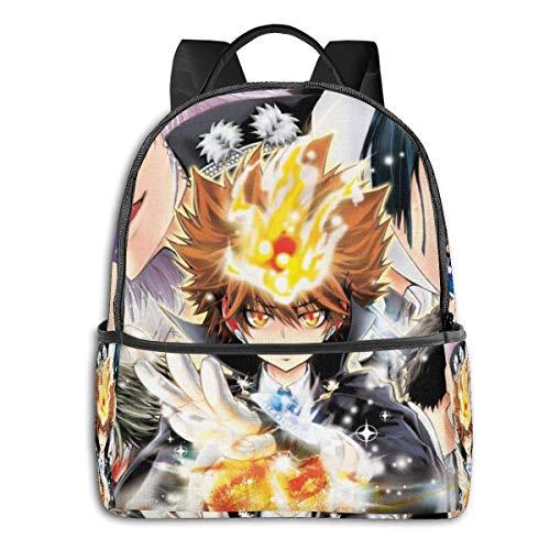 Katekyo Hitman Reborn Backpack Unisexs Student Bag Classic Lightweight Zipper Backpacks