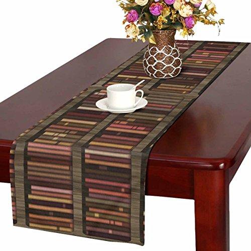 Artsadd Bücherregal aus Holz mit Büchern für Küche Esstisch Tischläufer 35,6 x 182,9 cm für Dinnerpartys, Events, Dekoration