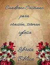 Cuaderno cristiano para Oración, Sermon Iglesia: Libreta Bíblica
