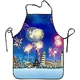 Myrdora Fuochi d'artificio patriottici colorati per grembiuli da Cuoco Unisex Overhand Features Grembiule da Grill