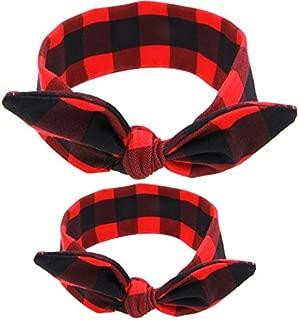 red and black plaid headband