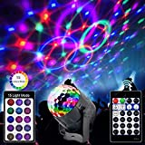 Disco Lights Ball with 15 Modes Stage Lights with Remote, Sound Activated Colorful