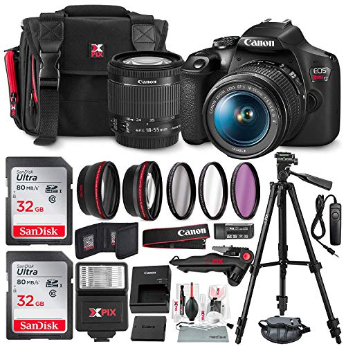 Canon T7 EOS Rebel DSLR Camera with EF-S 18-55mm...