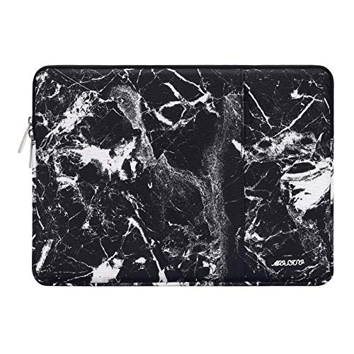 MOSISO Laptop Sleeve Compatible with 13-13.3 inch MacBook Pro, MacBook Air, Notebook Computer, Polyester Disorderly Texture Marble Bag with Pocket