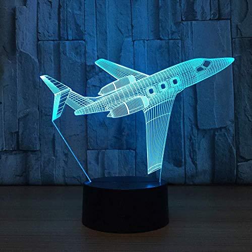 3d illusion nachtlicht 7 farbe led vision airliner blinkschalter usb powered schlafzimmer schreibtisch kinder dekoration bunte kreative geschenk fernbedienung