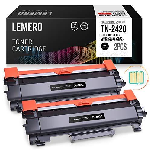 2 LEMERO Toner Compatible para Brother TN-2420 TN2420 TN-2410 [con Chip] para HL-L2310D HL-L2350DN...
