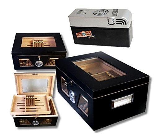 Lifestyle-Ambiente Cigar Oasis EXCEL Black Wonderful Kristallglas Humidor V-1320