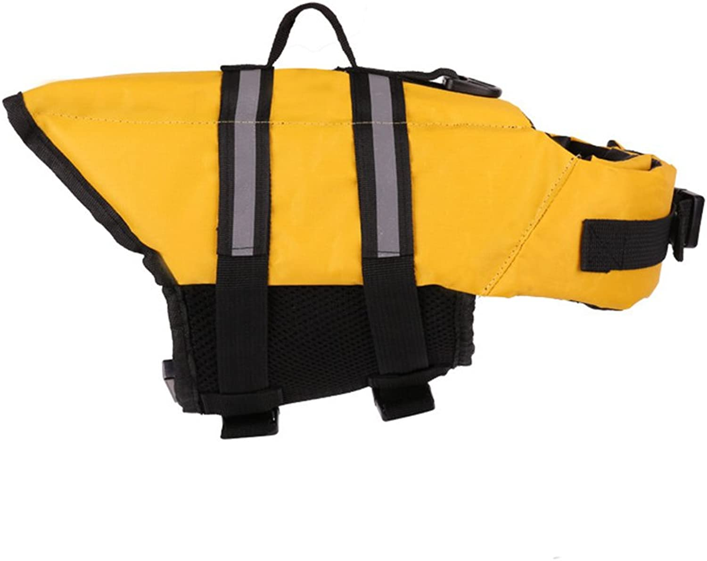 Pet Dog Life Jacket Swimming Float Vest Reflective Adjustable Buoyancy Aid Safety Life Vest with Rescue Handle