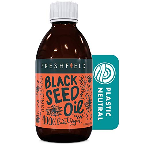 Freshfield Black Seed Oil: Up to 3X The Thymoquinone, Premium (Black Cumin Seed Oil, Nigella Sativa) | Cold Pressed | Vegan | Ultra Strength | Pure and 100% Natural. 8.5 oz Liquid in Glass Bottle