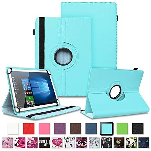 NAUC Tablet Schutzhülle für Sony Xperia Z4 aus Kunstleder Hülle Tasche Standfunktion 360° Drehbar Motiven Cover Universal Hülle, Farben:Türkis