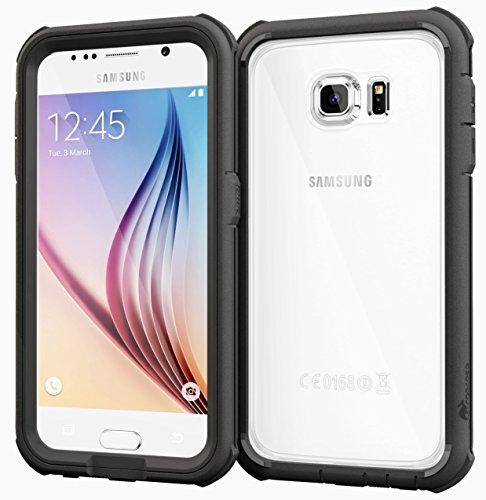 RooCase RC-SAM-S6-GT-BK Glacier Tough Hybrid PC TPU Rugged Case for Samsung Galaxy S6 - Black