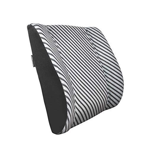 AmazonBasics - Almohada viscoelástica con apoyo lumbar, con rayas, con paneles