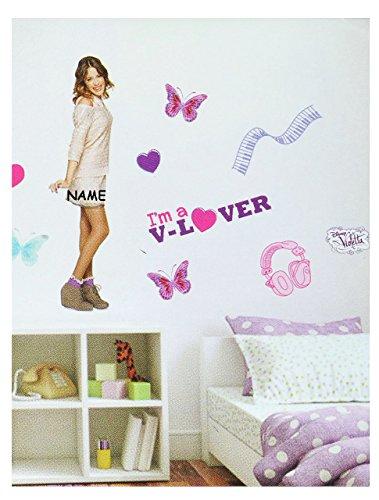 großes Set: Wandtattoo / Sticker - Disney Violetta - incl. Namen - Wandsticker Aufkleber Wandaufkleber für Mädchen - Martina Stoessel Channel Schauspielerin / Poster - Postersticker