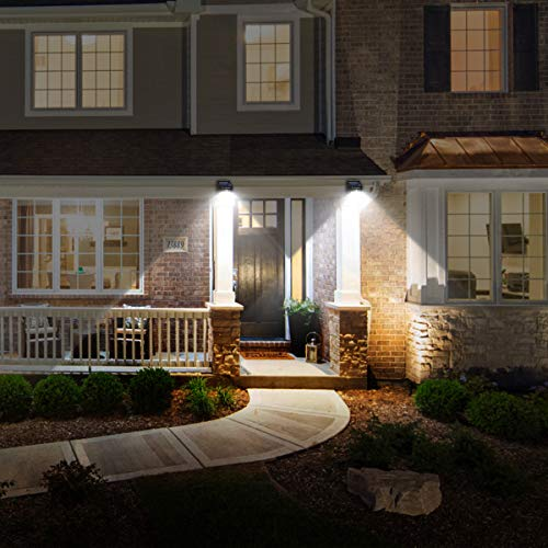URPOWER Solar Lights Outdoor, Motion Sensor Security Lights Solar Flood Lights Waterproof Solar Powered Outdoor Lights for Backyard, Fence, Deck, Patio, Garage (4 Pack)