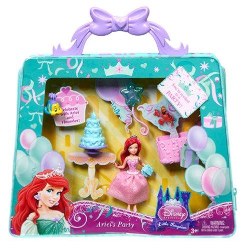 Disney Princess Y1444 Little Kingdom ARIEL Party Doll & Carry Bag