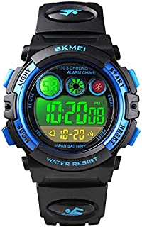 Kids Digital Sport Watch for Boys Girls, Kid Waterproof Electronic Multi Function Casual Outdoor Watches, 7 Colorful LED Luminous Alarm Stopwatch Wristwatch