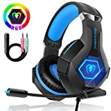 Beexcellent Casque PS4, Casque Gaming Xbox one Professionnel RGB 7 Couleurs Audio Stéréo Basse Anti-Bruit Réglable Micro Compatible PC Mac Laptop Nouvelle Version 2020