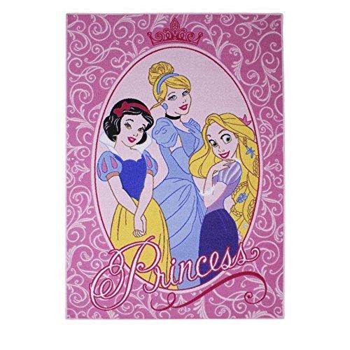 GUIZMAX Compatible avec Tapis Enfant Princesse 133 x 95 cm Disney Glamour