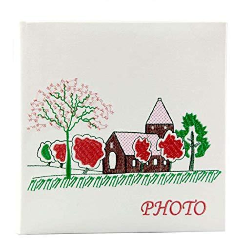 LuoMei Pastorale Stickerei, Hinterlassen Sie Eine Nachricht Interstitial-Stil Pu Familienfoto Fotoalbum, 200 Fotos - Panorama 6 '' (6X4,5 '' Fotos 'Fotos Lieben Reise Gedenkfotoalbum