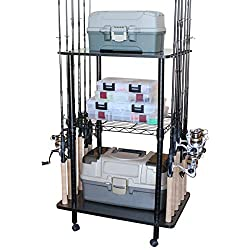 Easily Assembled Fishing Rod Rack