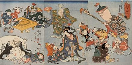The Seven gods of good fortune Japanese Print