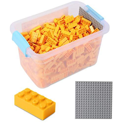 Katara-Juego De 520 Ladrillos Creativos En Caja Con Placa De Construcción 100% Compatibles Con Lego Classic, Sluban, Papimax, Q-bricks, color amarillo (1827) , color/modelo surtido