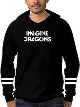 Mens Pullover Hoodie Imagine Dragons Evolve 3D Printed Long Sleeve Fleece Hoody Casual Tops Sweatshirt