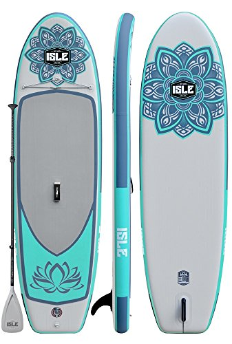 "ISLE 10'6' Scout | Inflatable Stand Up Paddle Board | 6"" Thick iSUP..."