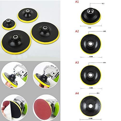 NO LOGO LMY-PGM, 1 stück Auto Poliermaschine Stützteller Auto Polierer Motorhaube Dia.80/100/150 MM Winkelschleifer Radschleifer Papierscheibe (Size : A3)