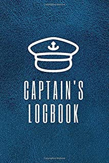 Captain's logbook: boaters journal, trip log for your ship with detailed interior (port information, weather conditions, s...